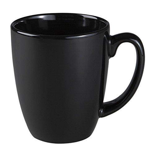 Corelle Livingware 11-Oz Black Stoneware Mug Set of 8 by Corelle Coordinates