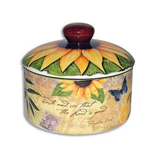 Divinity Boutique 23855 Bella Vita Sugar Bowl with Lid Multicolor