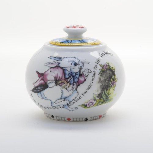 Paul Cardew Alice in Wonderland Sugar Bowl with Lid Retired Pattern