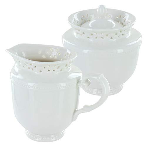 Beaufort Porcelain Sugar Bowl Creamer Set