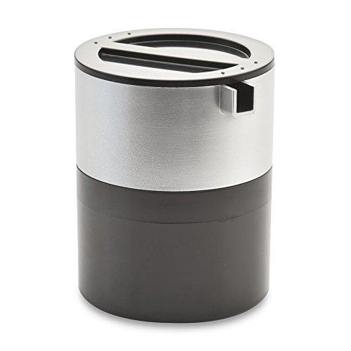 Berghoff Cubo Stainless Steel Stacking Sugar Bowl Creamer Set 8 x 8 x 10 cm Black 2 Piece