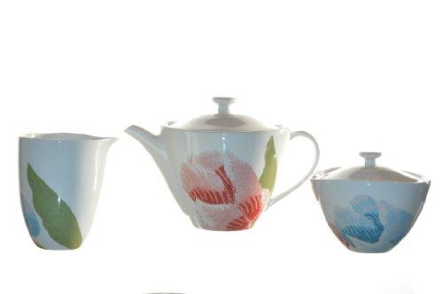 Diane Von Furstenberg Home Batik Floral Teapot Sugar Bowl Creamer Set