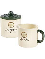 Grasslands Road Sugar Bowl and Creamer Set - Holds 8 Ounces Material Ceramic