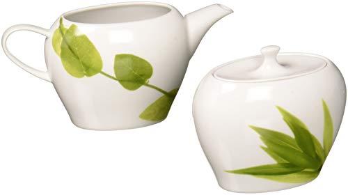 Mikasa Daylight Sugar Bowl and Creamer Set