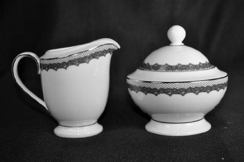 Ralph Lauren Cocktail Dress Sugar Bowl and Creamer Set