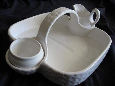 Secla Williams Sonoma Portugal Strawberry Basket Sugar Bowl Creamer Set
