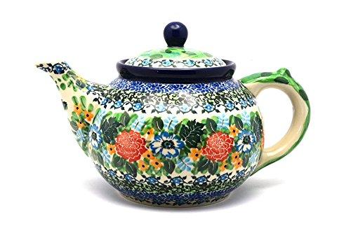 Polish Pottery Teapot - 1 14 qt - Unikat Signature U3271