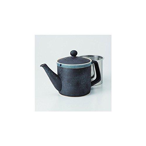 Japanese porcelain Hasami ware kurogoma SS teapot J32-62811