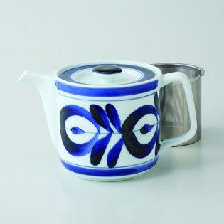 Japanese porcelain Hasami ware majorica SS teapot hsm-J29-60157