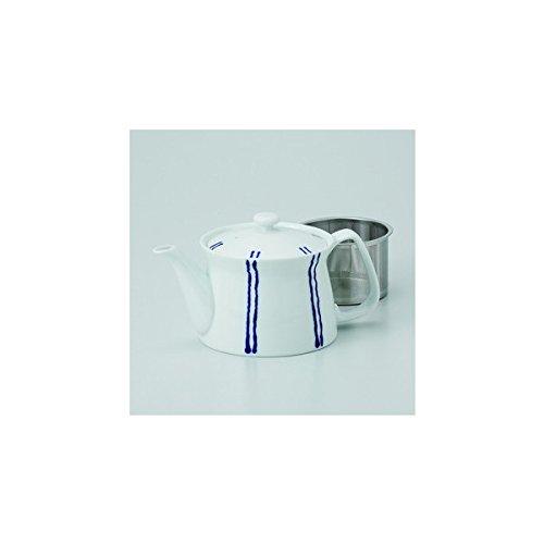 Japanese porcelain Hasami ware stripe B ss teapot J32-73542