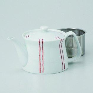 Japanese porcelain Hasami ware stripe R SS teapot hsm-J32-73543