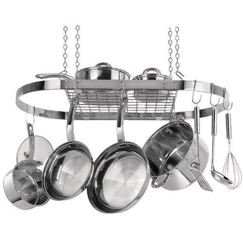 Range Kleen Oval Hanging Pot Rack stainless Steel