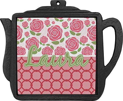 Roses Teapot Trivet Personalized
