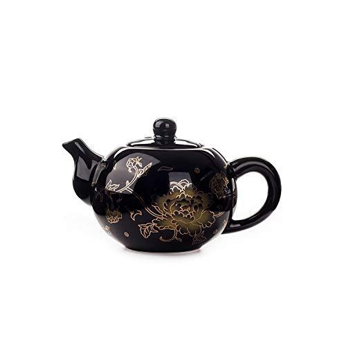 Black Ceramic Tea pot Chinese Dragon TeaPot handmade Teapot easy teapot kettle Ceramic Tea Set Kettle Kung Fu Teaware03