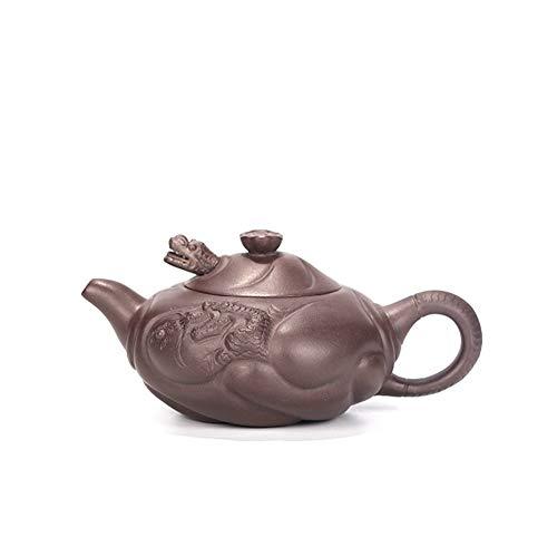 Chinese teapot Yixing Teapot Big Red Fish Dragon Teapot Tea kung fu tea Color  Purple mud
