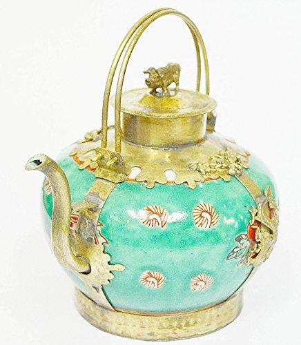 Classic Home Decore Beautiful Chinese tibet Porcelain Dragon TeaPot