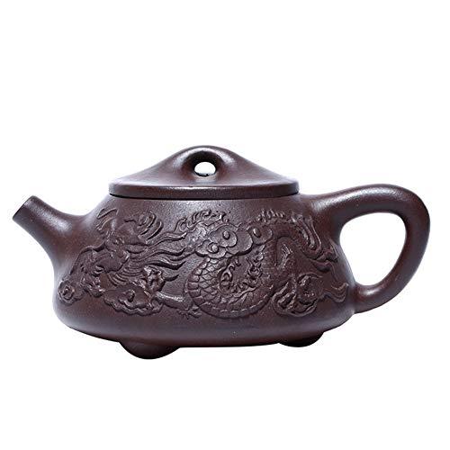 SHENLIJUAN Ore purple clay teapot dragon stone scoop pot tea Color  Purple mud Size  One size