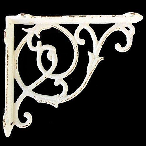 cast iron white shelf bracket distressed hand painted iron bracket distressed iron distressed bracketiron tealight hangerpot hanger
