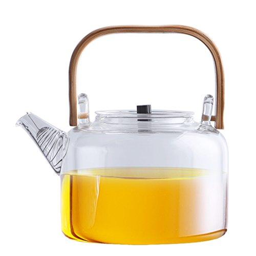 Ceramic Story Borosilicate Glass Teapot Teakettle Stovetop Safe1100ml