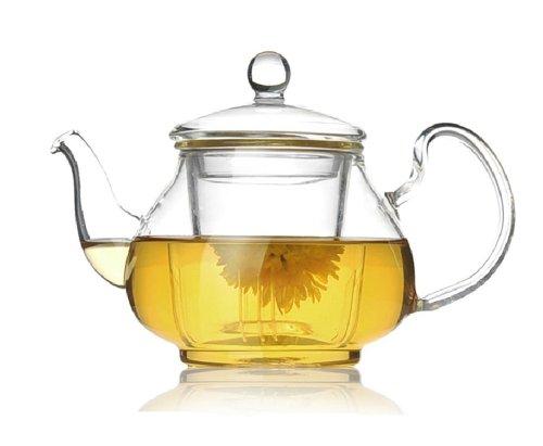 Moyishi Clear All Glass Borosilicate Glass Teapot Tea Set Infuser