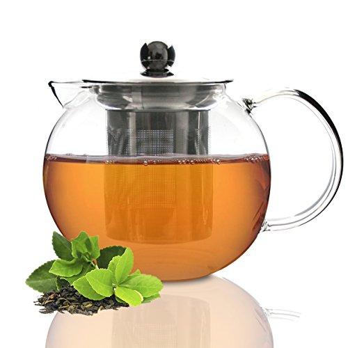 Tea Branch Glass Tea Set Glass Teapot Tea Infuser Tea Maker For Loose Tea Iced Tea Blooming Borosilicate Glass Tea Pot 27 oz 800 mililiter