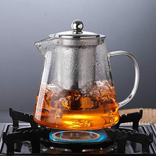 450ml 15oz Clear Glass Teapot High Temperature Resistant Loose Leaf Flower Tea Pot Maker Brewer with Strainer Lid Kangkang