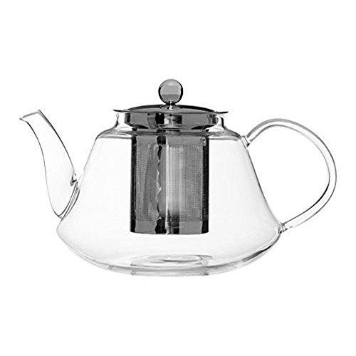 Premier Housewares High Borosilicate Clear Glass Teapot with Infuser 405 floz