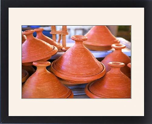 Framed Print of Tagine pots Tangier Morocco North Africa Africa