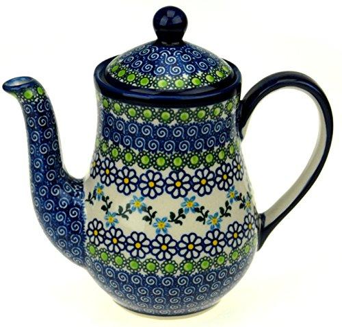 Ceramika Boleslawiecka Kalich Polish Hand Painted Teapot Daisies