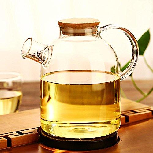 ChSukho 1500ml large-capacity glass teapot  can be heated teapot  borosilicate glass heat-resistant teapot