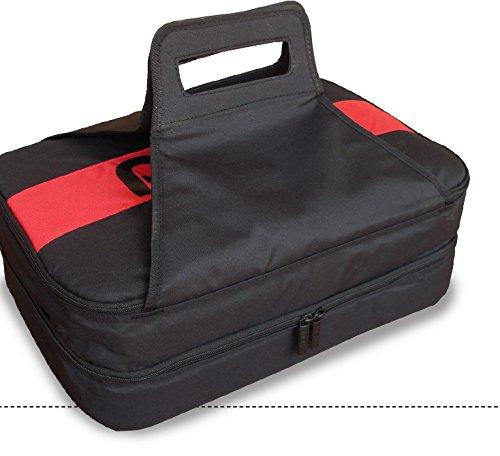 Pyrex Portables Double Decker Casserole Dish Carrier (black & Red)
