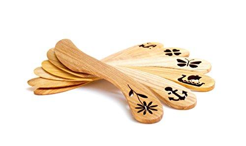 Wooden butterknife set 6 pcs