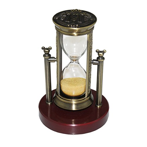 Fengfa3 Minutes HourglassSand Timer Romantic Crystal with Sands for Mantel Office Desk Coffee Table Book Shelf Cabinet Christmas Birthday Present Gift Box Package RKS-BG001