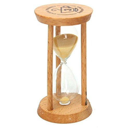 Lchen 3 Mins Wood Artistic Hourglass Sandglass Sand Clock Timers