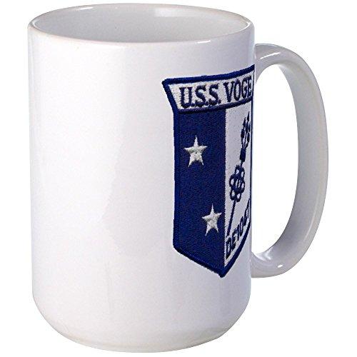 CafePress - Uss Voge De Patch Transparent Mugs - Coffee Mug Large 15 oz White Coffee Cup