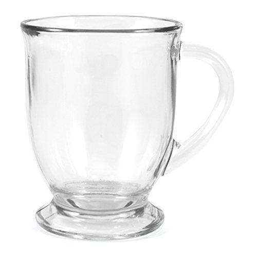 Anchor Hocking Glass 16 Ounce Cafe Mug Set of 2
