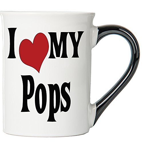 I Love My Pops Large 20 Oz Coffee Mug Pops Ceramic Coffee Cup Pops Gift By Tumbleweed