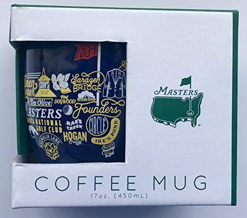 2020 Masters golf coffee mug navy augusta national collage pga new