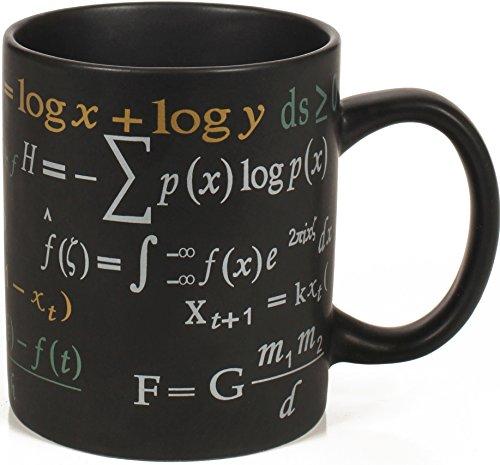 Math Mug - 12 oz Coffee Mug Featuring Famous Mathematical Formulas