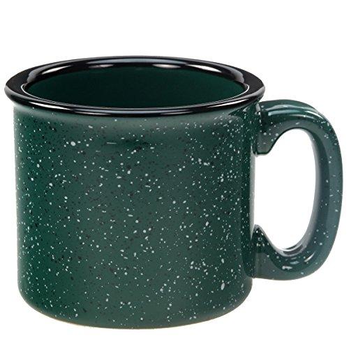 Santa Fe Ceramic Campfire Coffee Mug Fleck Forest Green 12 oz