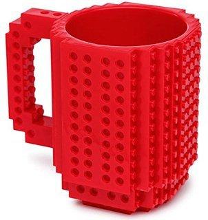 VMargera Build-On Brick Mug Red 12 Oz Coffee Mug Red