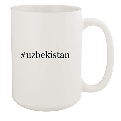 uzbekistan - 15oz Hashtag White Ceramic Coffee Mug