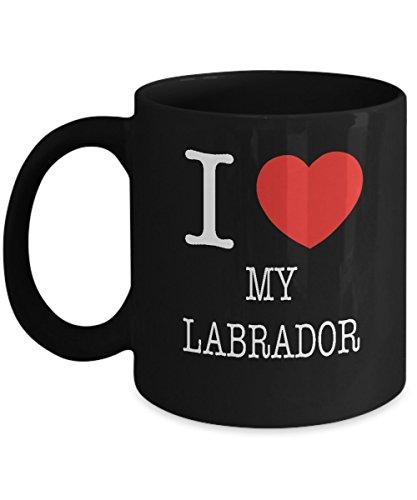 I Heart My Labrador Dog Lover Acrylic Coffee Mug Black 11oz