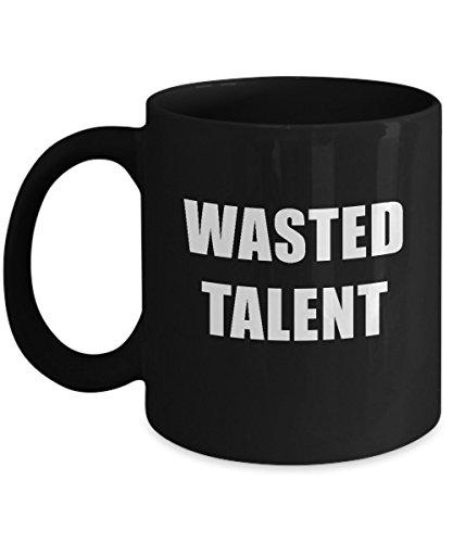 Wasted Talent Black Acrylic Coffee Mug 11oz