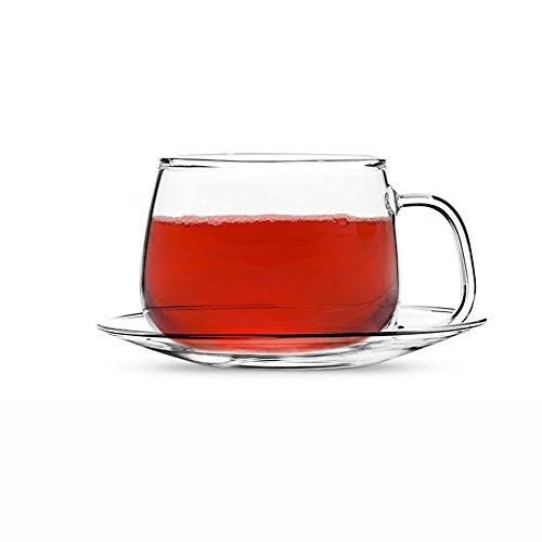 Teabox Bolus Glass Tea Cup Saucer Borosilicate glass 8 fl oz 1pc