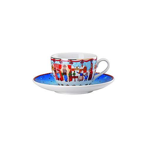 Hutschenreuther Christmas Market 02476-727312-14765 Cappuccino Cup Set of 2 022 l  16 cm Porcelain