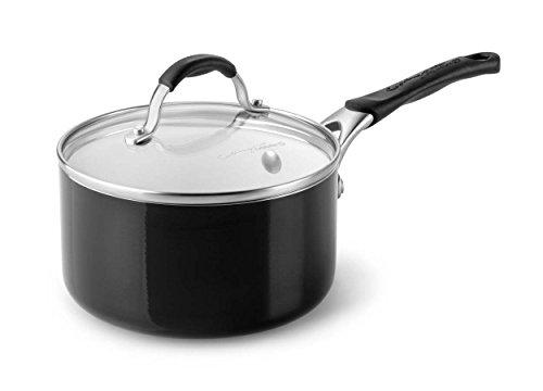 Calphalon Ceramic Nonstick Cookware Sauce Pan 2 qt Black