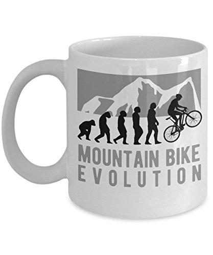 Mountain Bike Mug Bicycle Evolution Funny Biking Quote Cycling Coffee Cup