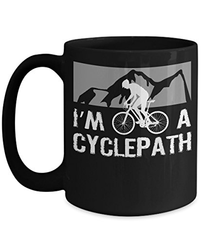 Mountain Bike Mug Im a Cyclepath Funny Biking Quote Cycling Coffee Cup
