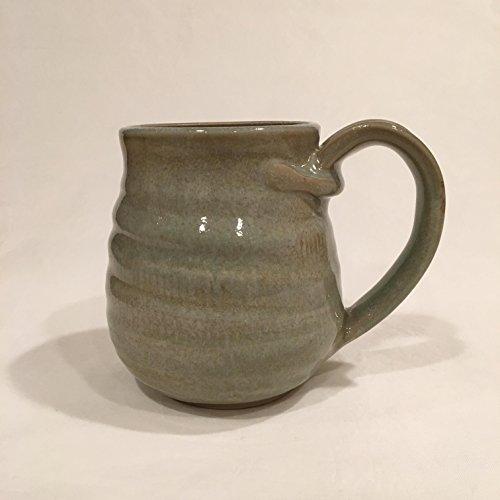 Large Handmade Coffee Mug Pottery Cup Light Green Coffee Mug CMNOV17LG5